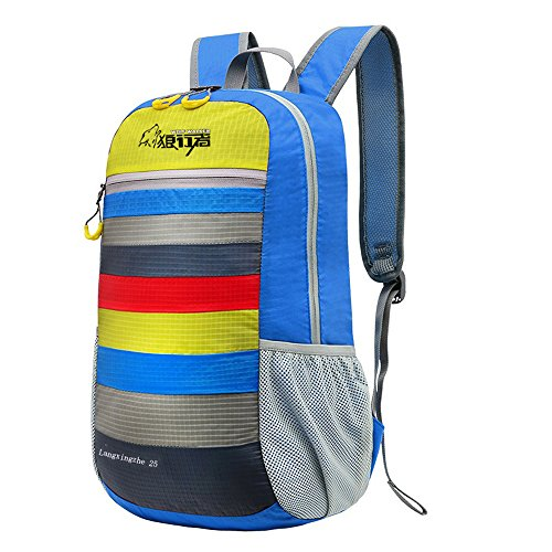 Blue Outdoor Travel Mountaineering Backpack Tourism Portable CTXxqwvv