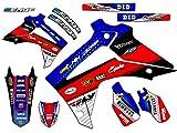 Senge Graphics 2006-2007 Honda CRF 250R Riccochet Blue Graphics kit