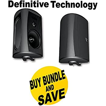 definitive outdoor speakers. definitive technology aw 6500 outdoor speakers (pair) - black bundle k