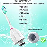 Ofashu Replacement Toothbrush Heads Compatible with Philips Sonicare E-series HX7022/66,Essence,Xtreme,Elite,Advance,CleanCare Electric Toothbrush
