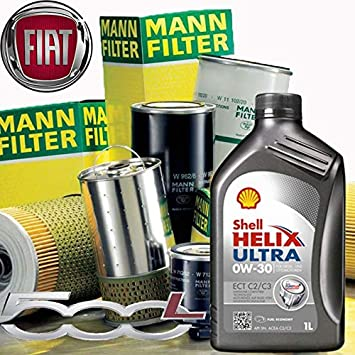 Kit con Aceite de Motor Shell Helix Ultra ect C2/C3 0 W-30 + filtros ...