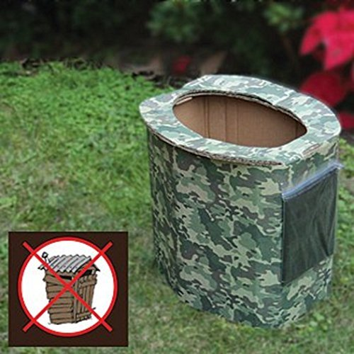 Ultimate Arms Gear 2 Pack of Biodegradable Personal Portable Hygiene Folding Reusable Disposable Bathroom Outhouse Outdoors Camping Hunting Hiking Tactical Camo Camouflage by Ultimate Arms Gear