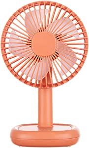 Small Desk Fan for Office Table, Cute but Mighty, 3 Speeds, USB Powered, 60° Adjustment, Quiet Portable Personal Fan,for Home Office Bedroom or Outdoor Use (Orange)