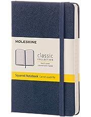 Moleskine Hard Cover Pocket Classic Notebook, Squared, Sapphire Blue