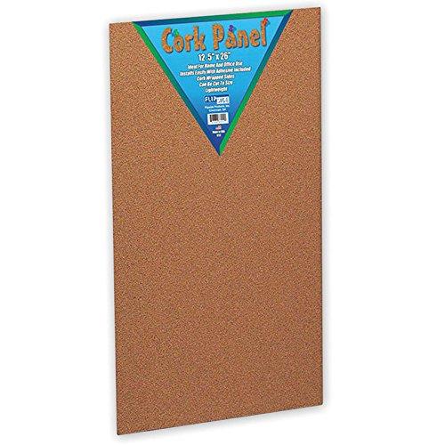 Flipside FLP37012BN Cork Panel, 12-1/2 Inch X 26 Inch, MultiPk 6 - Side Beveled Panels