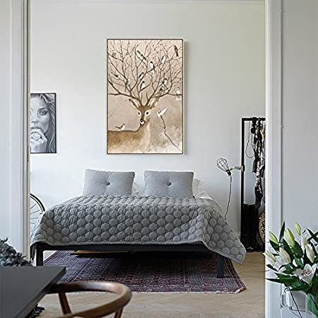 Amazon Com Patined The Living Room Of The Elk Series Has A Framed Triplex Dining Hall And A Frescoed Fresco For The Little Fresh Elk Elk In Northern Europe 5272cm Elk Elves Silver