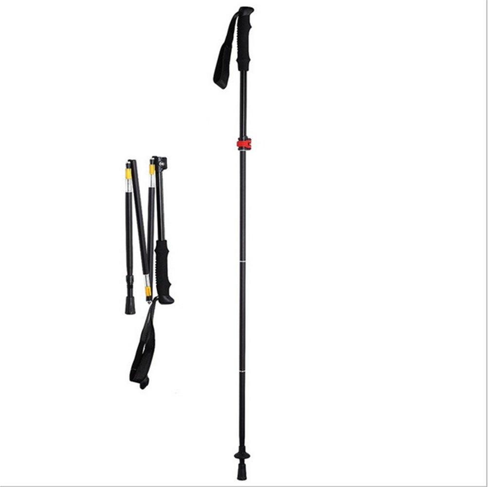 GXQL Wanderstöcke und Faltbarer Trekkingstöcke,34-135cm Leicht und Wanderstöcke Einstellbar Walking Stöcke Dämpfungssystem, 01e684