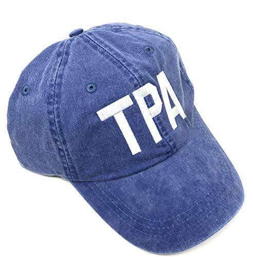 Custom Monogrammed TPA Tampa International Airport Code Baseball Hat (Pigment Dyed Royal) ()