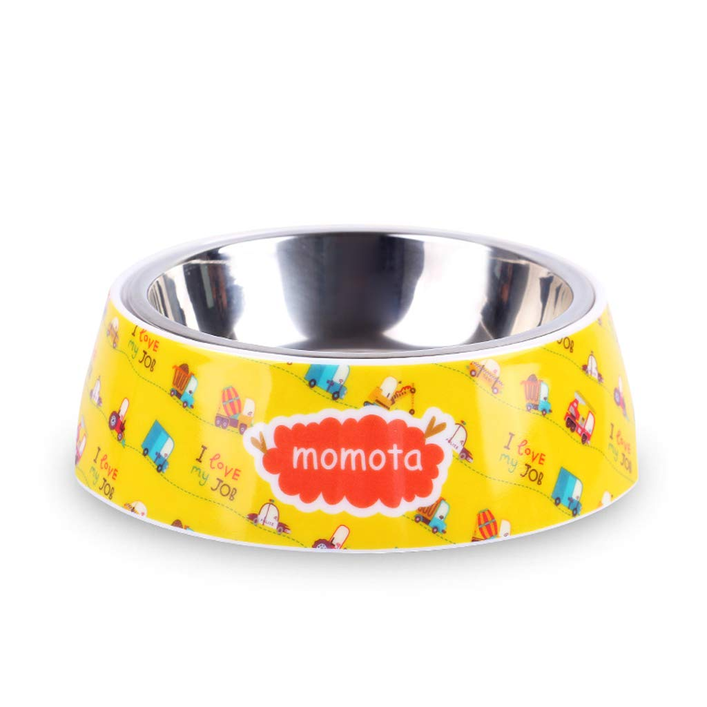 CXQ Dog Bowl Pet Bowl Dog Food Bowl Stainless Steel Non-Slip Double Layer Single Bowl Cat Bowl Cute Car Pet Supplies