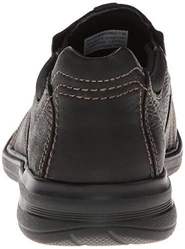 Clarks Sherwin Tiempo Resbalón-en Mocasín Black Tumbled Leather