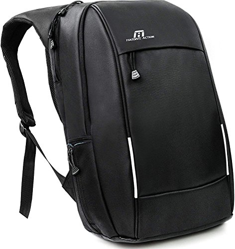 Laptop Backpack - Travel Business Everyday Backpack for men women High School College – Water Resistant Durable Nylon Computer Bag with USB Charging Port for 15.6 inch Laptop Notebook – Daypack Black