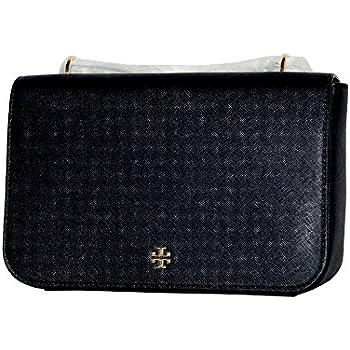 01f2f7cbe6b2 Tory Burch Emerson Adjustable Shoulder Bag Women s Handbag (Black)