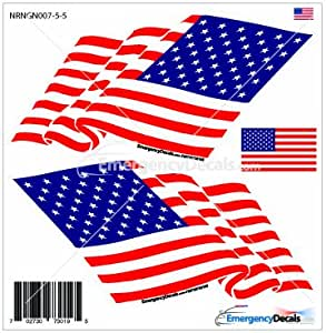 Saludando reflectante adhesivo, diseño de bandera estadounidense: Amazon.es: Coche y moto