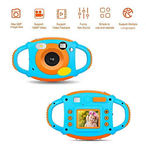 AMKOV Kids Camera Digital Camera for Kids Digital Video Camera 1.77 HD Color Screen 5 MP Beautiful Camera for Kids