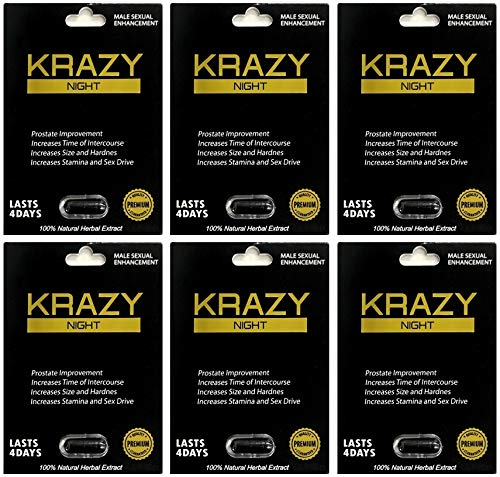 Krazy Night Black 6Pills Best Male Enhancing Natural Performance Capsules New Premierzen Most Effective Natural Amplifier for Performance, Energy, and Endurance by Thumbs 7 Premierzen 69 Mode Pill Rhino (Image #2)