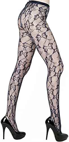 32d93fb1b7 Killer Legs Womens One Size Patterned Fishnet Tights Stocking Pantyhose