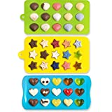 Candy Molds & Ice Cube Trays - Hearts, Stars & Shells - Silicone Chocolate Molds - Fun, Toy Kids Set