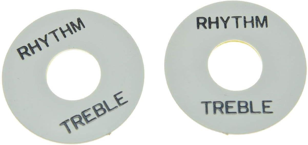 Catfish Rythm//Treble Plate Unterleg-Platte für Toggle Switch weiß