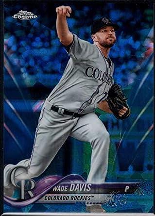 dbd77157ecb21 Amazon.com: Baseball MLB 2018 Topps Chrome Sapphire #511 Wade Davis ...