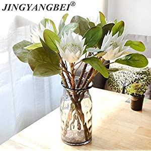 LAROSS Decoration Plant Flowers Autumn 3Pcs/lot Artificial Africa Protea Cynaroides Flores Branches for Fall Wedding Decorative Wreath Plants Table Accessory (Random) 28