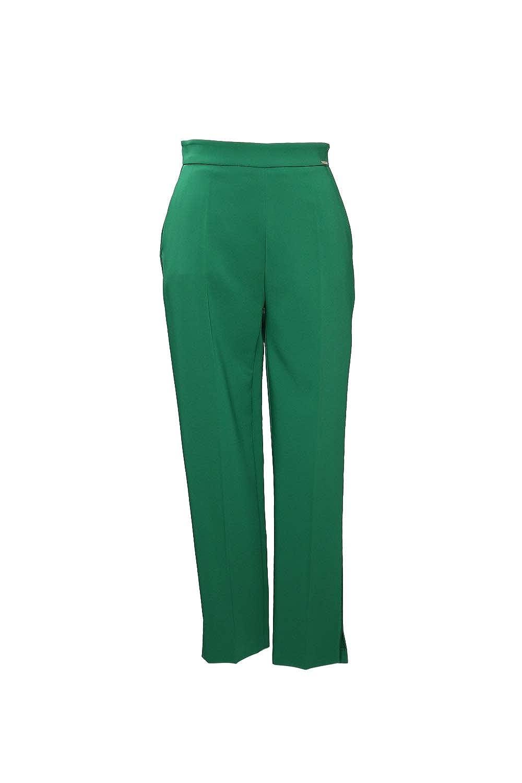 Pantal/ón de Color Verde Elisabetta Franchi