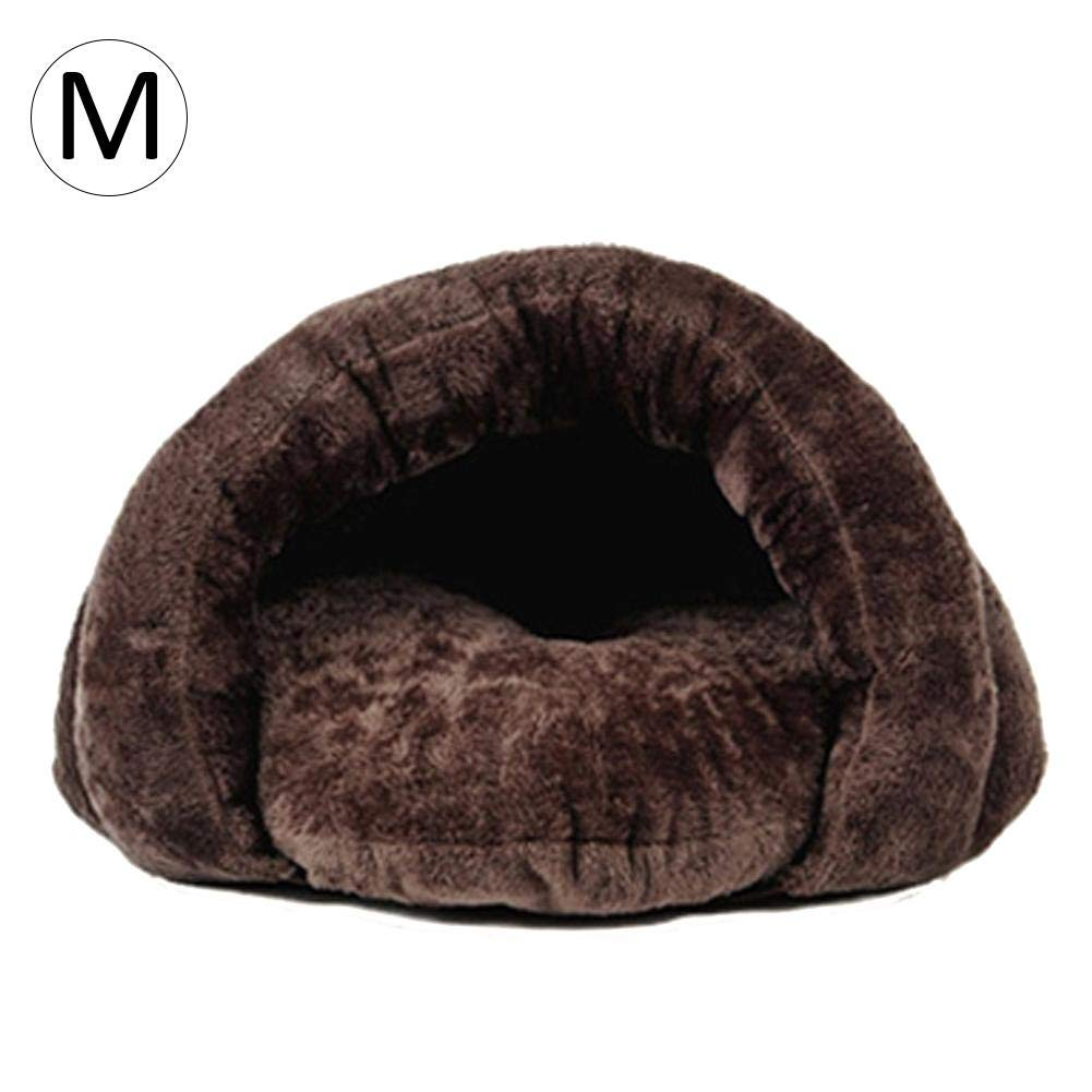 Brown M Brown M Per Cat Nest Closed Type Removable Washable Cat Sleeping Bag Pet Cat Supplies Teddy Small Dog Puppy Kennel Pets Cave Bed Mat Portable House Four Seasons Universal