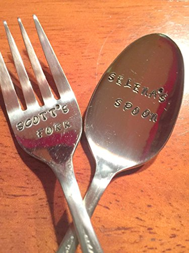 Personalized NAME Spoon or Fork~ NEW FLATWARE Hand Stamped. Unique Gift Personalized for the Favorite Person in your Life. - Engraved Flatware