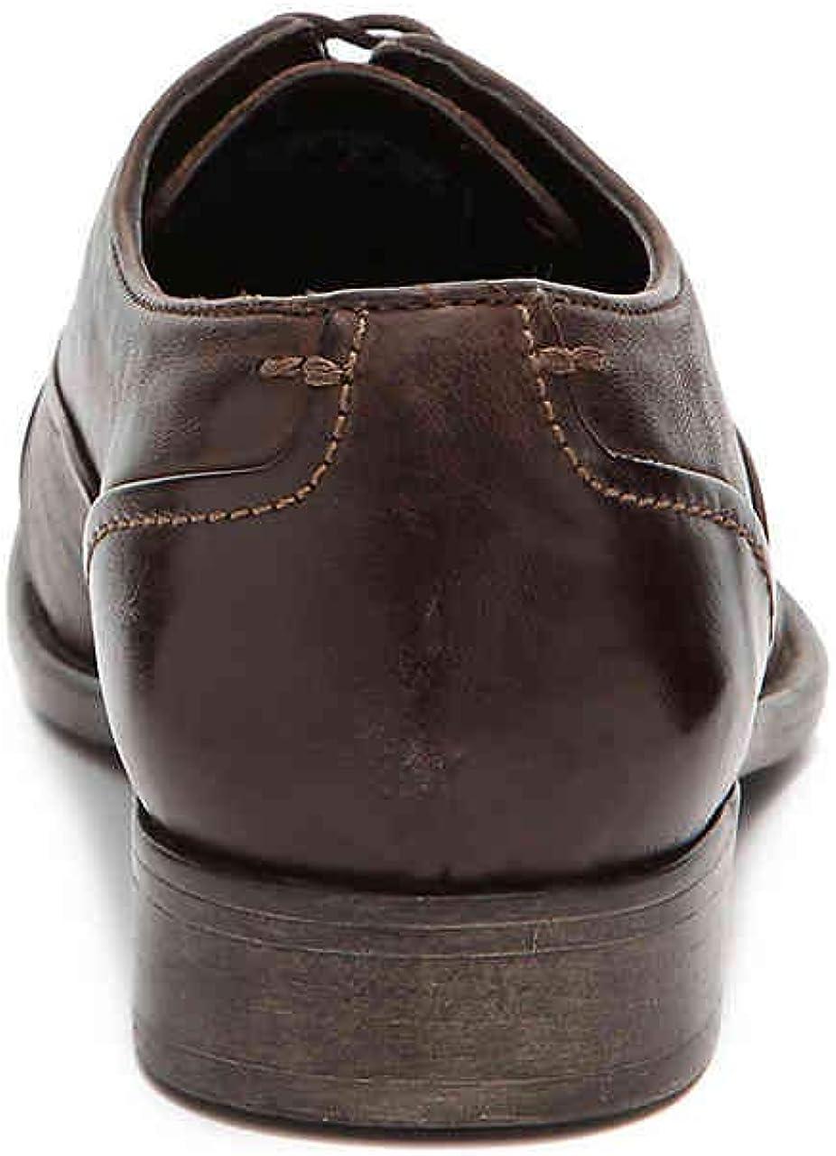 Hush Puppies Mens Buck Dark Brown Leather Oxford 9 D Medium