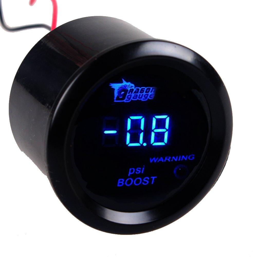 Supmico 52mm Universal Auto KFZ Blau LED Licht Anzeige Digital Wasser Temperatur Temp Instrument Messger/ät