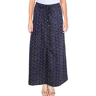 Lauren Ralph Lauren Womens Printed Split Hem Maxi Skirt