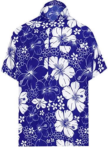 LA LEELA Mens Relaxed Hawaiian Shirt for Boys Button Down Up Shirt Printed C