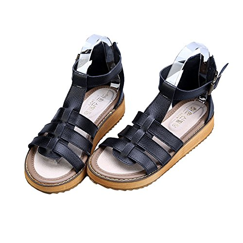 H&W Womens Flat Sandals Real Leather Gladiator Summer Sandals Gum Rubber Soles White 3cxZPT0Ot5