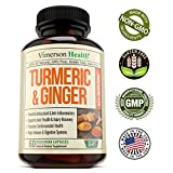 Turmeric Curcumin with Ginger & Bioperine - Best Vegan Joint Pain Relief, Anti-Inflammatory, Antioxidant & Anti-Aging Supplement with 10mg of Black Pepper for Better Absorption. 100% Natural Non-GMO - 51riz31h5NL - Turmeric Curcumin with Ginger & Bioperine – Best Vegan Joint Pain Relief, Anti-Inflammatory, Antioxidant & Anti-Aging Supplement with 10mg of Black Pepper for Better Absorption. 100% Natural Non-GMO