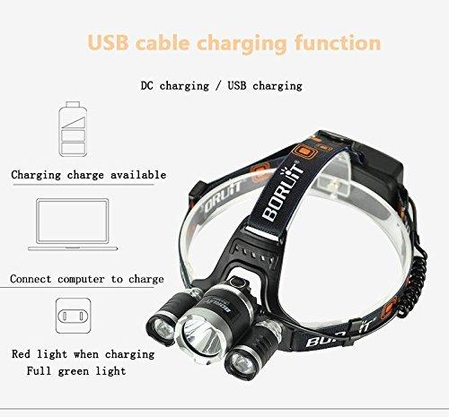 kazoku bright headlight headlamp flashlight torch 3 cree