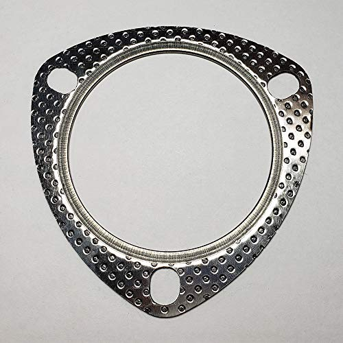 "3.5"" 3 Bolt MLSG High Temp Exhaust Gasket w/SS Fire Ring"