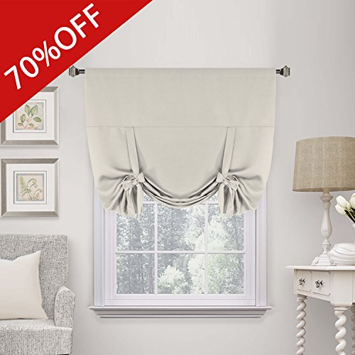 Tie Up Shade (H.Versailtex Thermal Insulated Blackout Curtain Tie Up Window Shade (Rod Pocket Panel) - 42