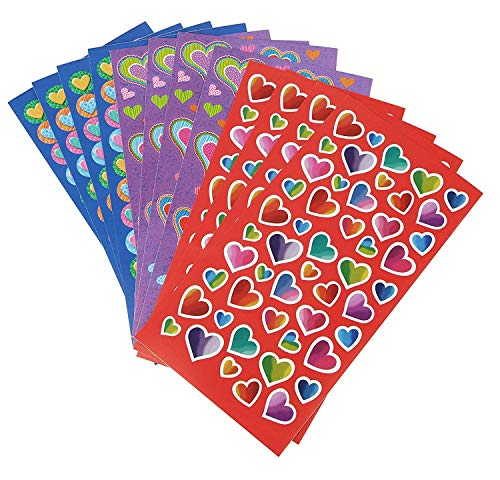 Super Cute Heart Stickers, More Than 1100 Stickers, Super Cute Decorative Heart-Shaped Labels for Cards or Gifts, Treats for School Kids, Unicorn Party, Favor Bags, Fun Arts and Crafts Supplies.