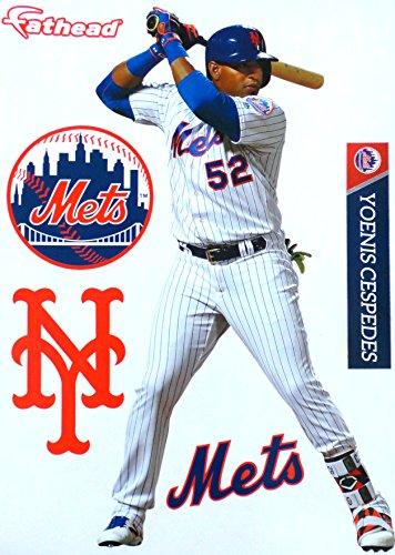 FATHEAD Yoenis Cespedes New York Mets Logo Set Official MLB Vinyl Wall Graphics 17