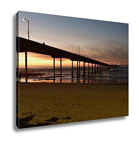 Ashley Canvas, Ocean Beach Pier In San Diego, Kitchen Bedroom Dining Living Room Art, 24x30, ()