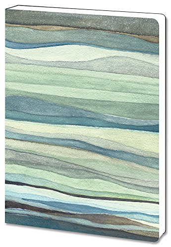 Tree-Free Greetings Recycled Soft Cover Journal, Ruled, 5.5 x 7.5 Inches, 160 Pages, Watercolor Waves Themed Shell Rummel Art ()