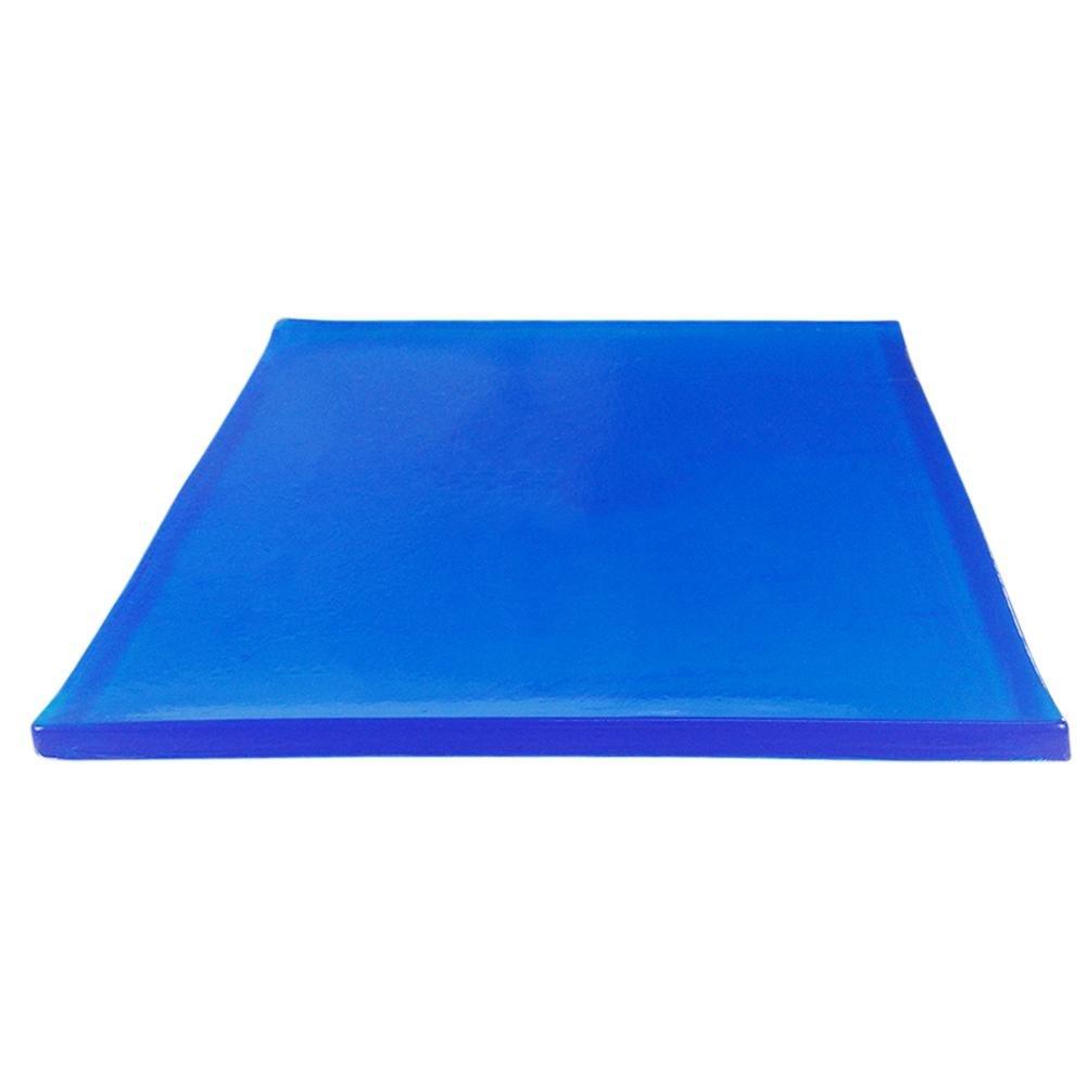 VKTECH Motorcycle Seat Gel Pad Shock Absorption Mat Soft Cushion Blue 25x22x1cm