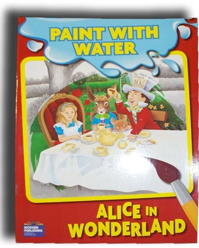 Alice in Wonderland Paint with Water Book