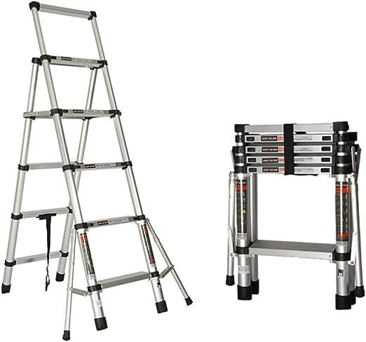 Qi Tai Escalera Plegable telescópica, Escalera multifunción for el hogar, Engrosamiento de aleación de Aluminio, escaleras pequeñas portátiles, Peso del rodamiento 150 kg Escalera telescópica: Amazon.es: Hogar