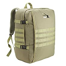 "MOLLE Cabin Backpack - 44L Tactical Military Hand Luggage 22"" x 16"" x 28.5"" (Khaki)"