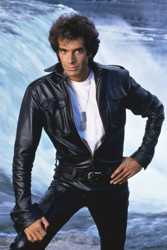 The Magic of David Copperfield in black leather jacket 24x36 Poster