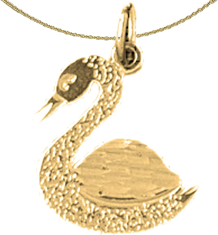 Rhodium-plated 925 Silver Ducks Pendant with 24 Necklace Jewels Obsession Ducks Necklace