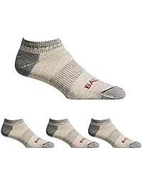 Lightweight 81% Merino Wool All Season Low Hiking Socks - 4 Pairs for Men and Women