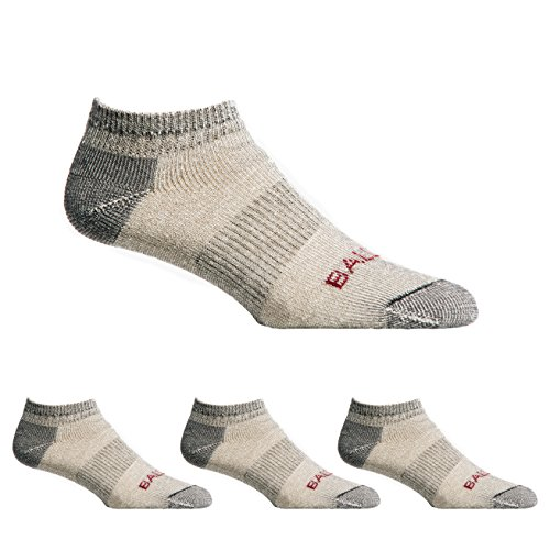 - Ballston Unisex Lightweight All Season 81% Merino Wool Low Cut Hiking Socks - 4 Pairs (Lunar Gray, XLarge)