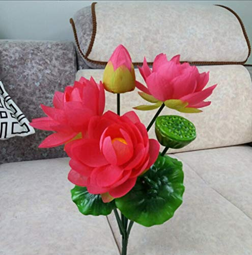 ZJJZH Artificial Decorative Flowers Fake Flower Simulation Big Lotus Flower Lily Water Dried Flower Floor Bonsai Flower 50cm Flower Products Include:Artificial Flowers,Decorative Artificial Plants.