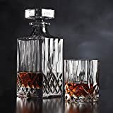 Mann Madison Whiskey Decanter with Glasses - Set of 7 (Clear)
